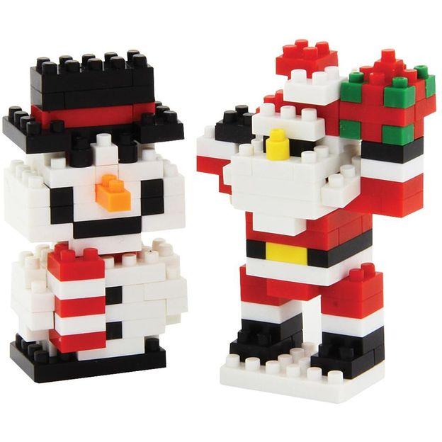 Pixel Bausteine in Weihnachtsmotiven
