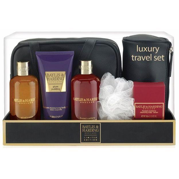 Luxuriöses Reise-Geschenkset, Cranberry & Orange