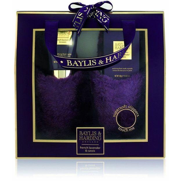 Geschenkset Hausschuhe, Lavender & Cassis