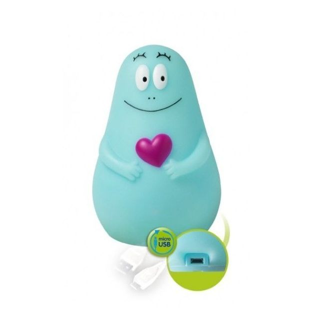 Veilleuse Barbapapa Lumilove USB bleue
