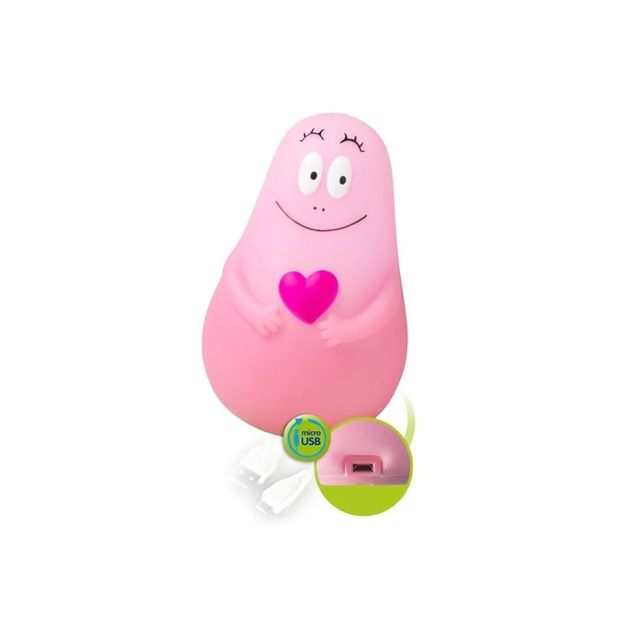 Nachtlampe Lumilove Barbapapa USB Pink