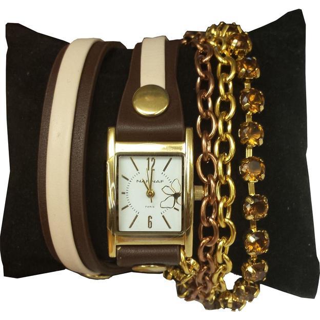 Montre bracelet Naf Naf Constance Brune