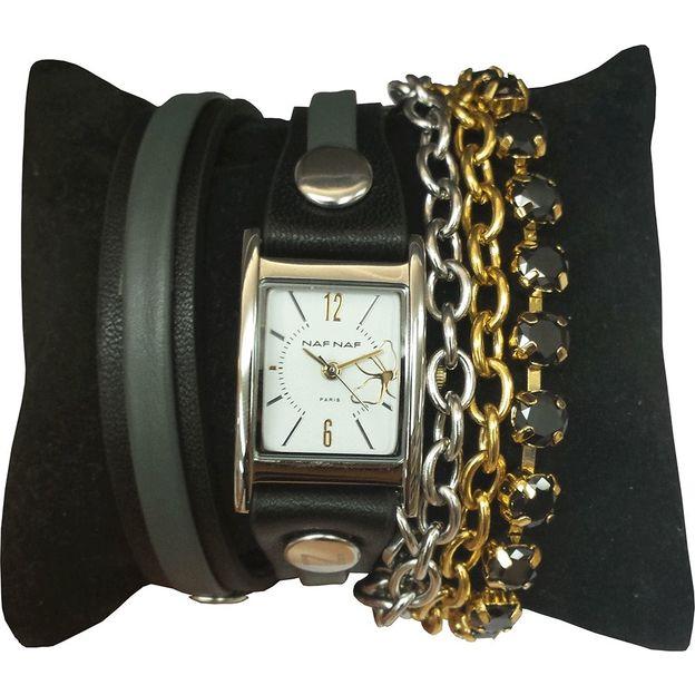 Montre bracelet Naf Naf Constance Noire
