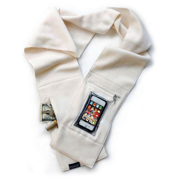 Echarpe Smartphone blanche