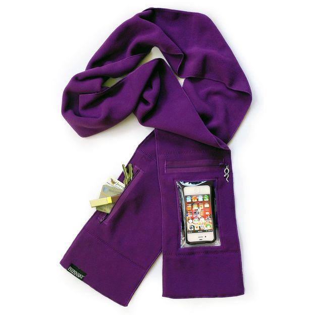 Echarpe Smartphone violette