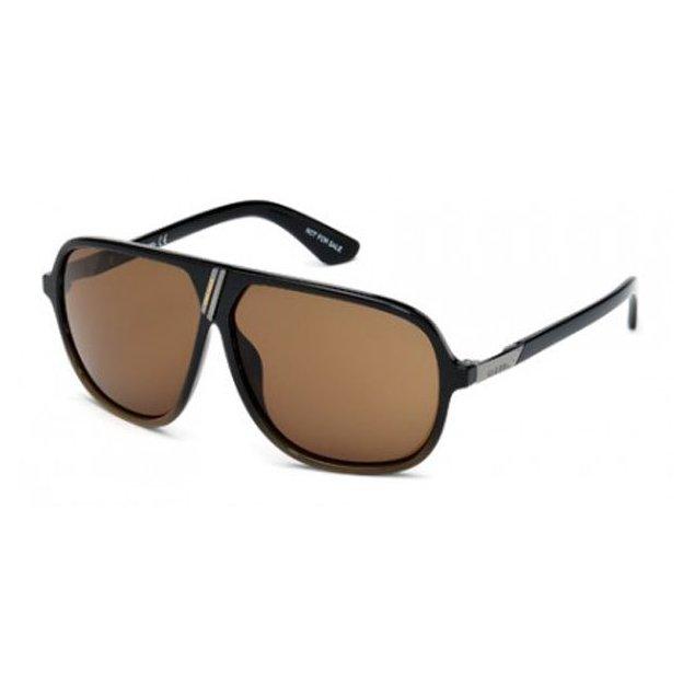 Diesel-lunettes de soleil pour Homme brun