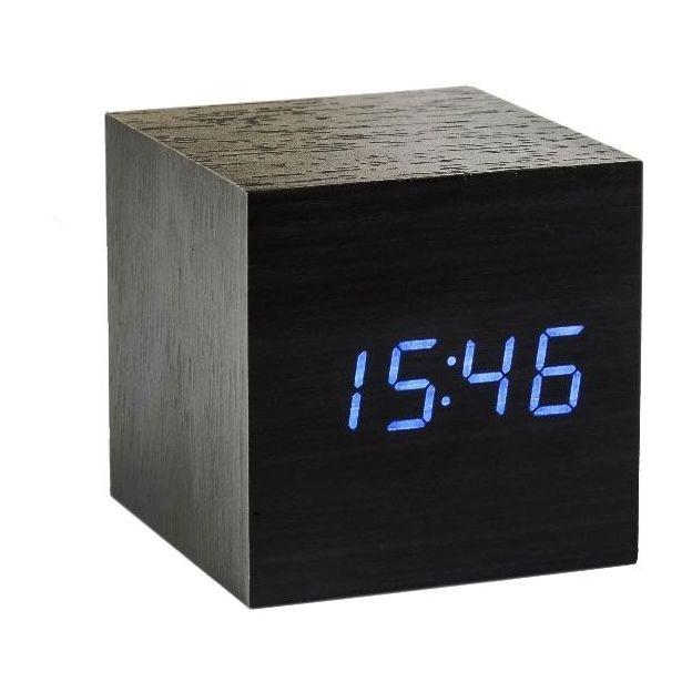 Réveil Cube noir LED bleu