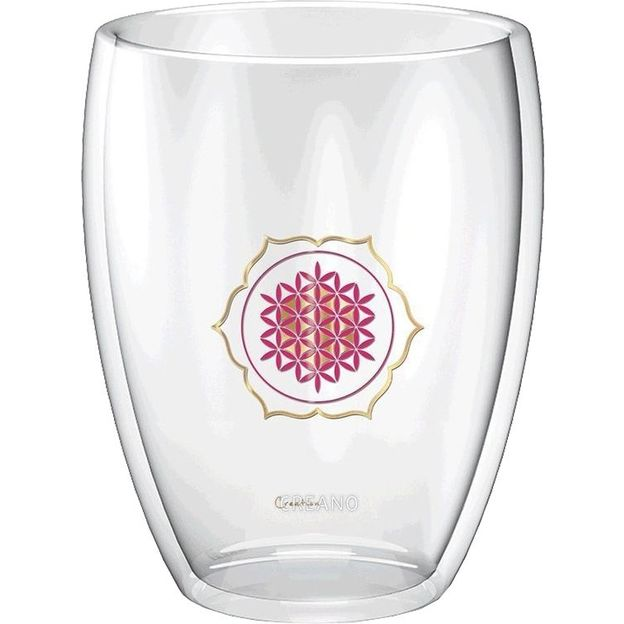 Creano Thermoglas Blume des Lebens