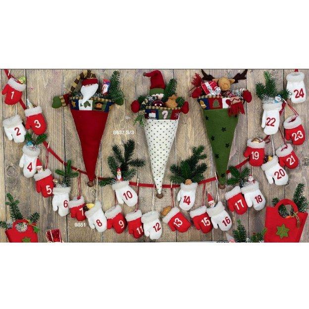 Adventskalender Handschuhe Weihnachtsmann