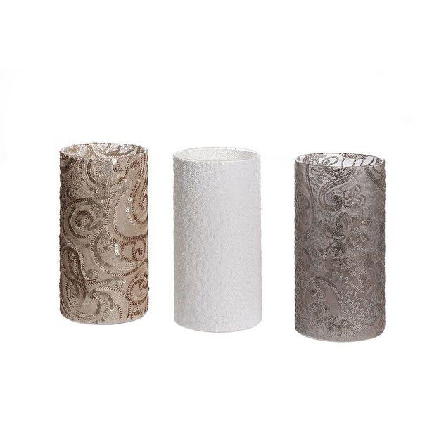 Set de 3 lanternes et vases Elegance