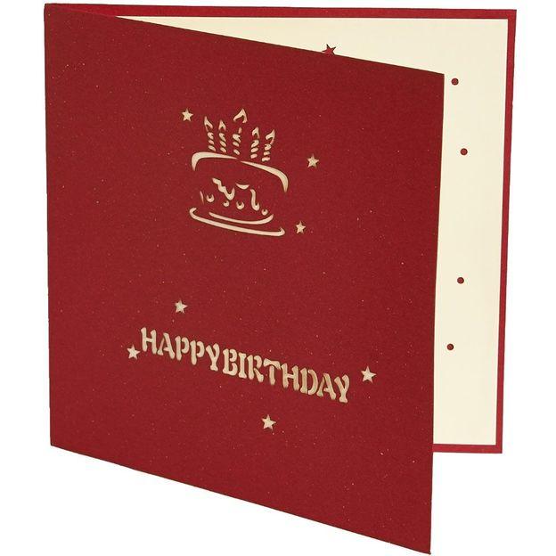 Pop-up Geburtstagskarten 3-er Set