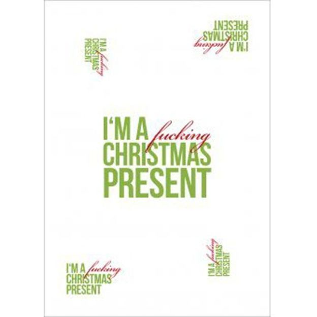 Geschenkpapier Wrap & Style - I'm a fucking christmas present