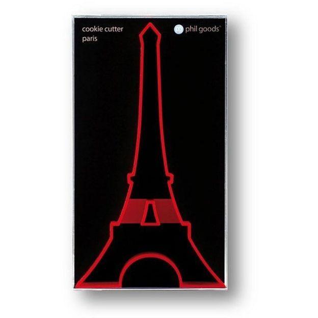 Moule à gâteau cutter Tour Eiffel rouge