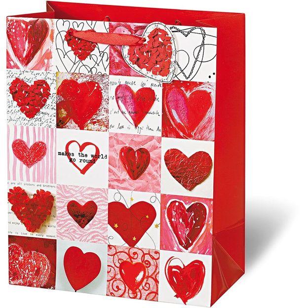 Geschenktasche Red Hearts
