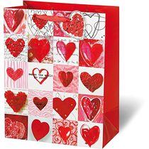 Pochette cadeau coeur rouge