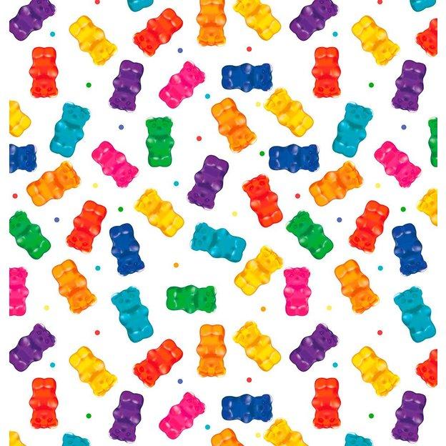 Papier cadeau bonbons nounours