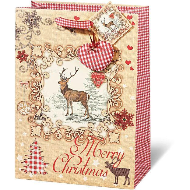 Geschenktasche Merry Christmas Vintage