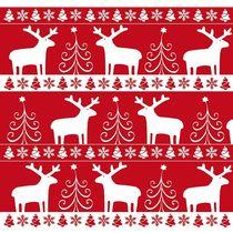 Papier cadeau Noël rouge et blanc