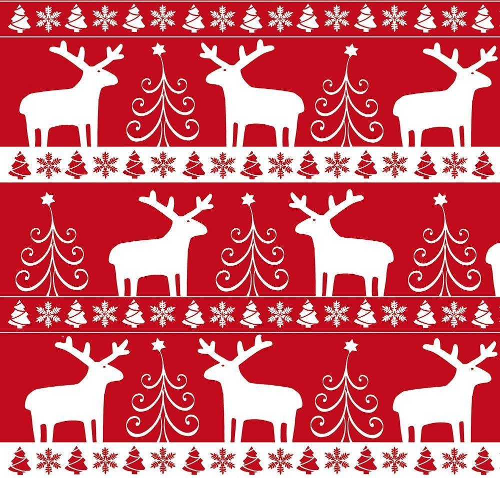 Papier Cadeau Noël Rouge Et Blanc Ideecadeauch
