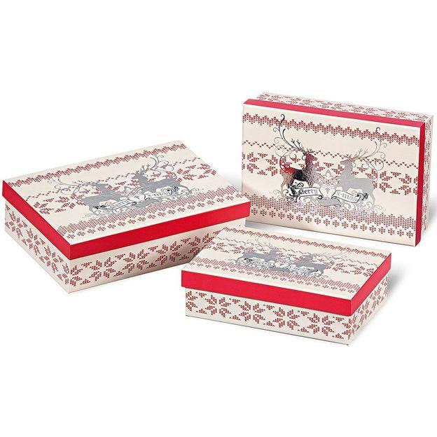 Boîtes cadeaux Merry X-Mas 3 pcs
