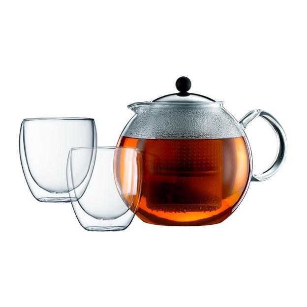 Tee-Set Assam 1.5L inkl. 2 doppelwandigen Pavina Gläser