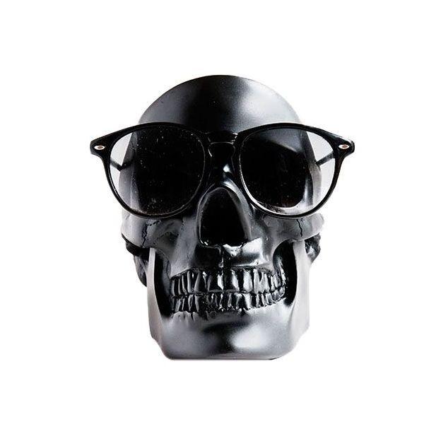 Vide-poche tête de mort noir
