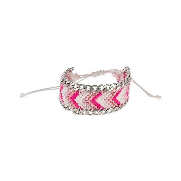 Armband aus buntem Nylonfaden bunt/silber
