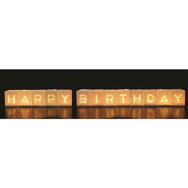 Teelichttüten Happy Birthday Set