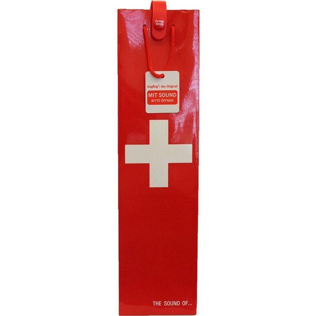 Geschenktasche Wein Schweizer Kreuz mit Musik
