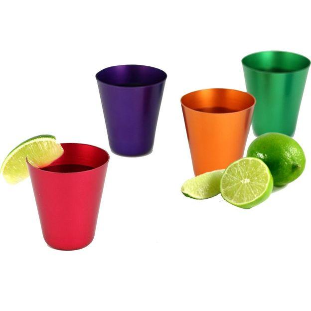 Set de 4 verres à shot colorés