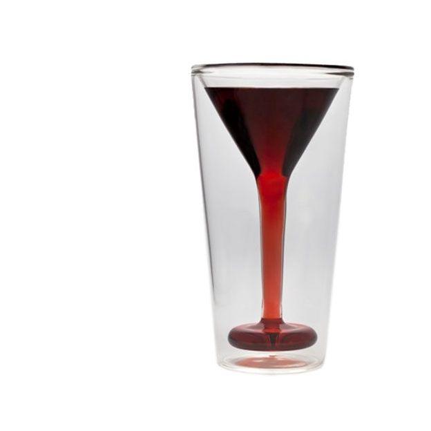 Glastini Martini Glas im Trinkglas