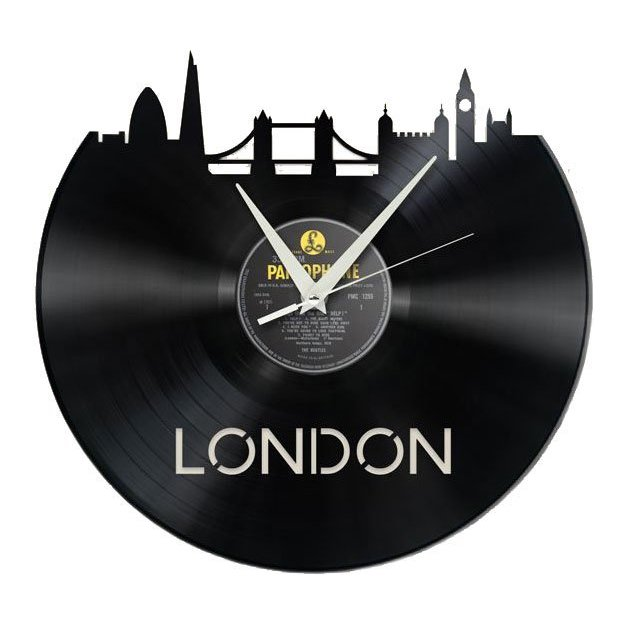 Schallplatten Wanduhr - London