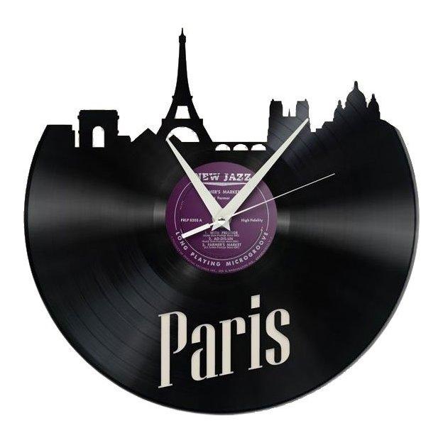 Schallplatten Wanduhr - Paris