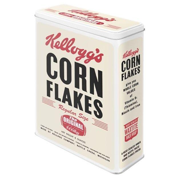 Boîte en métal rétro XL Kellogg's Corn Flakes