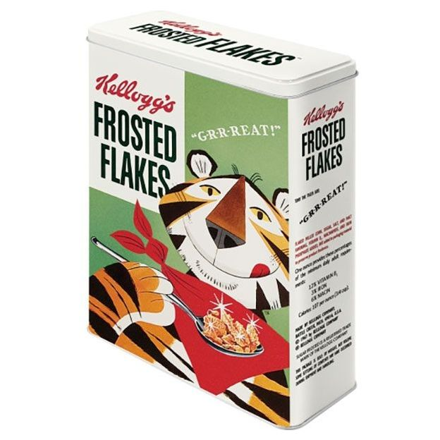 Boîte en métal rétro XL Kellogg's Frosted Flakes