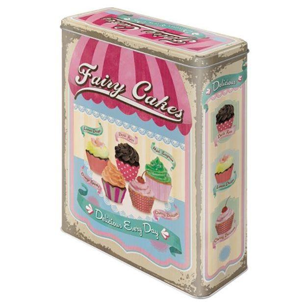 Boîte en métal rétro XL Cupcakes