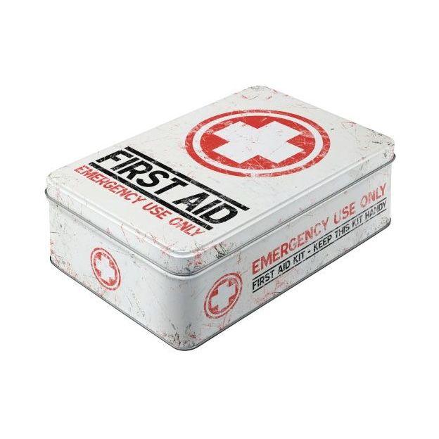 Boîtes de métal vintage First Aid