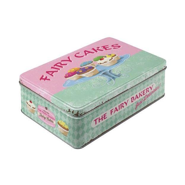 Boîtes de métal vintage Fairy Cakes