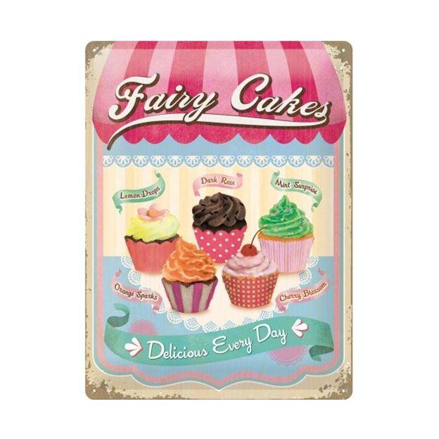 Plaque pub rétro - Fairy Cakes