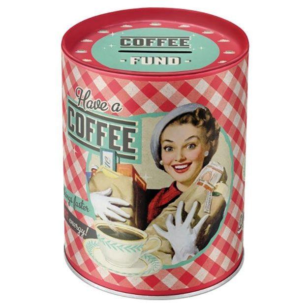 Tirelire rétro Have a Coffee