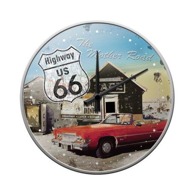 Horloge murale Route 66