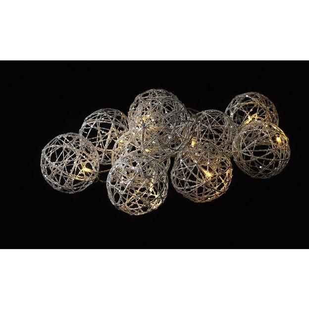 Guirlande Lumineuse Boules en métal
