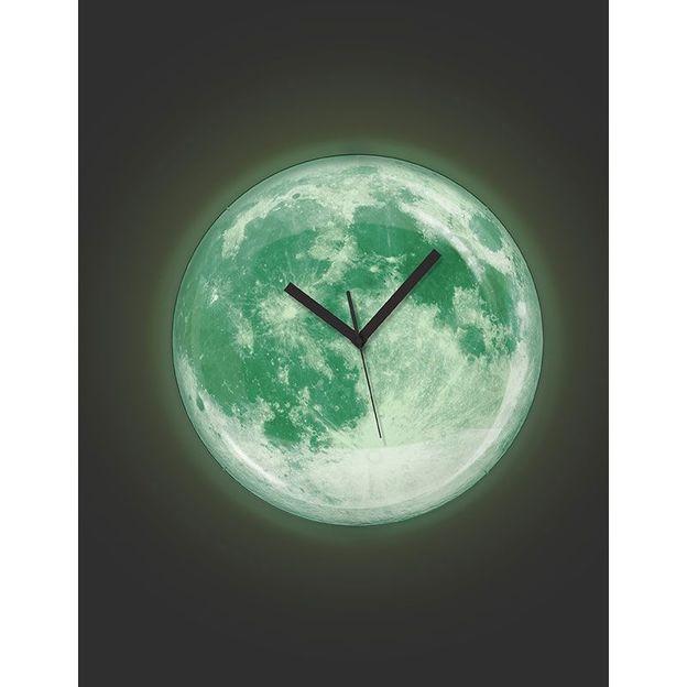 Leuchtende Mond Uhr