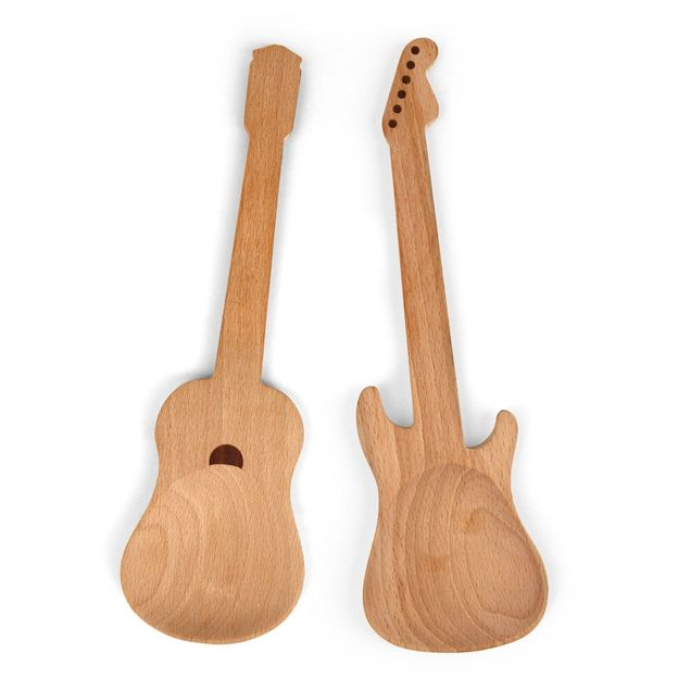 Couverts Guitares en bois