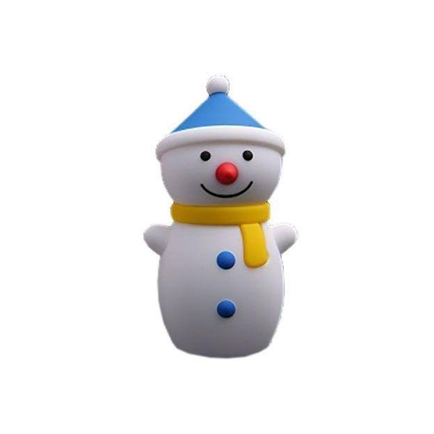Snowman Powerbank blau