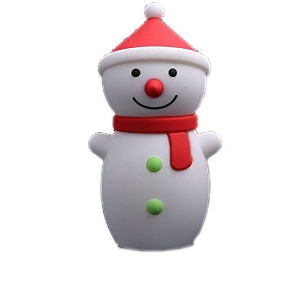 Snowman Powerbank rot