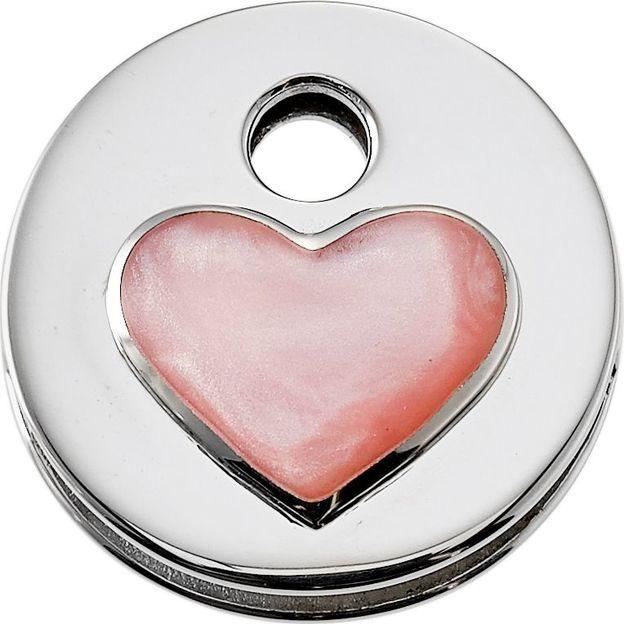 KeeeART Schlüsselanhänger Keeetop Glamour Heart Pink Silver