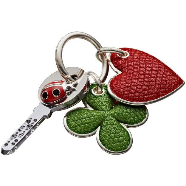 KeeeART couvre clés argent Coccinelle