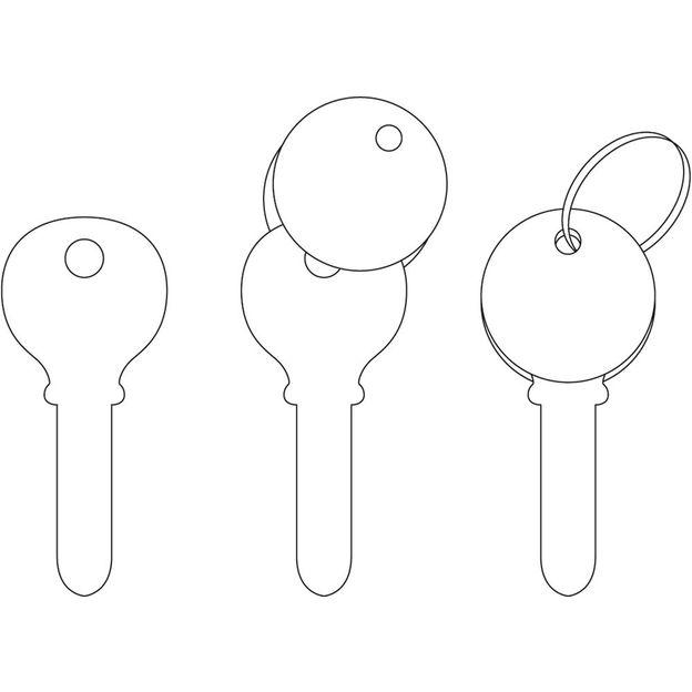 KeeeART Schlüsselanhänger Keeetop Ladybug Silver
