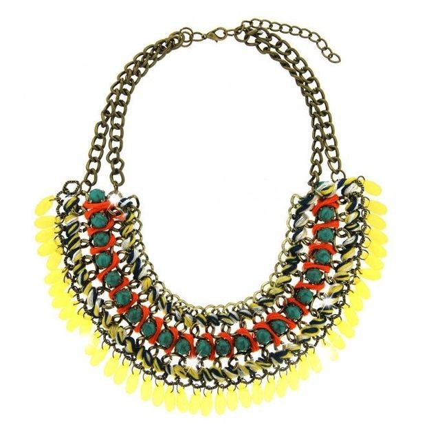 Collier granada doré antique /jaune/multi